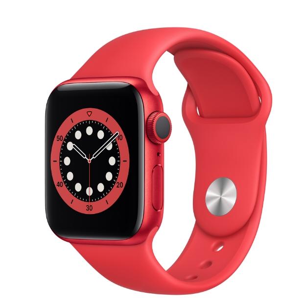 تصویر ساعت هوشمند اپل سری 6 آلومینیوم 40 میلیمتری با بند اسپرت سیلیکونی